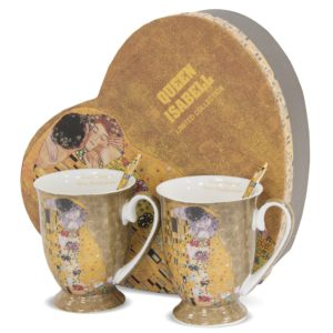 """Puodelių su šaukšteliais rinkinys """"Gustav Klimt"""""""