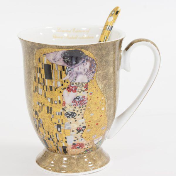 """Puodelis su šaukšteliu """"Gustav Klimt"""""""