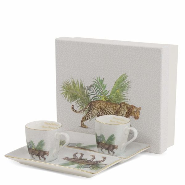 Puodelių espreso kavai rinkinys Leopardas