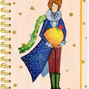 Užrašinė mediniu viršeliu Mažasis princas