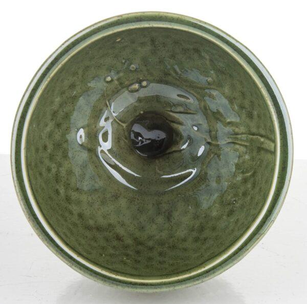 Vazonas žalios spalvos su kojele