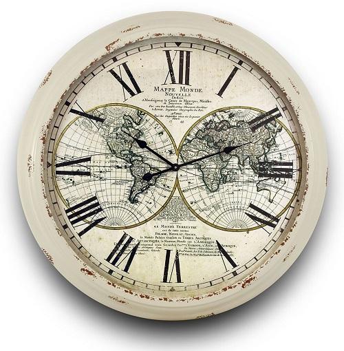Laikrodis Pasaulio žemėlapis