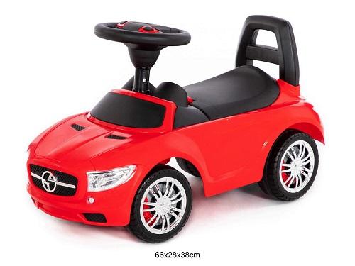 Automobilis paspirtukas raudonos spalvos